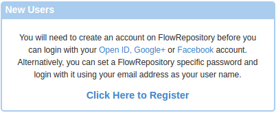Register with FlowRepository