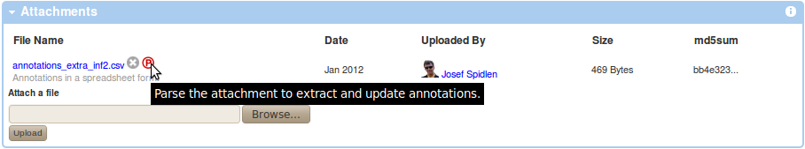 Extract Annotations From a spreadsheet.