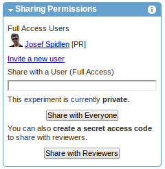 Sharing permissions (before sharing with reviewers)