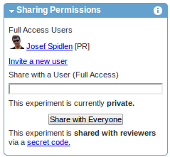 Sharing permissions (after sharing with reviewers)